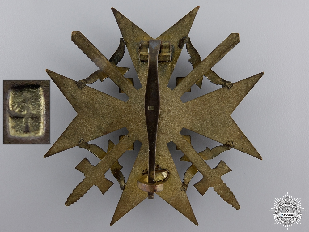 A Spanish Cross with Swords by S&L; Gold Grade