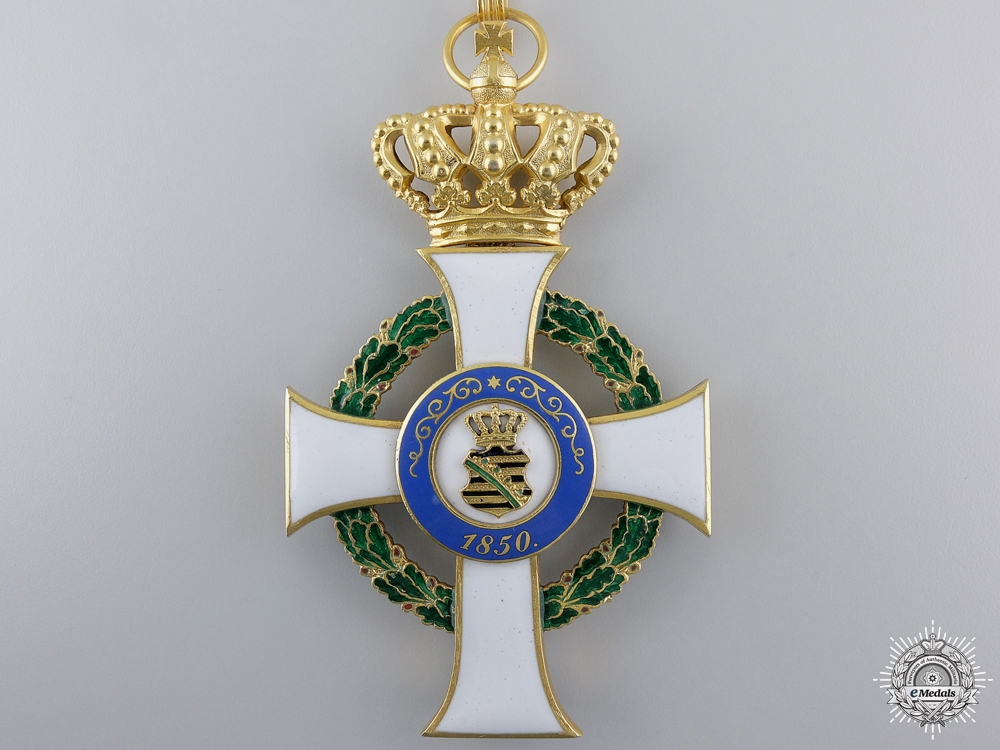A Saxon Order of Albert; Commander's Cross