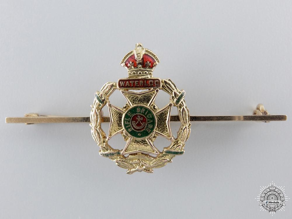 A Gold Rifle Brigade Pin