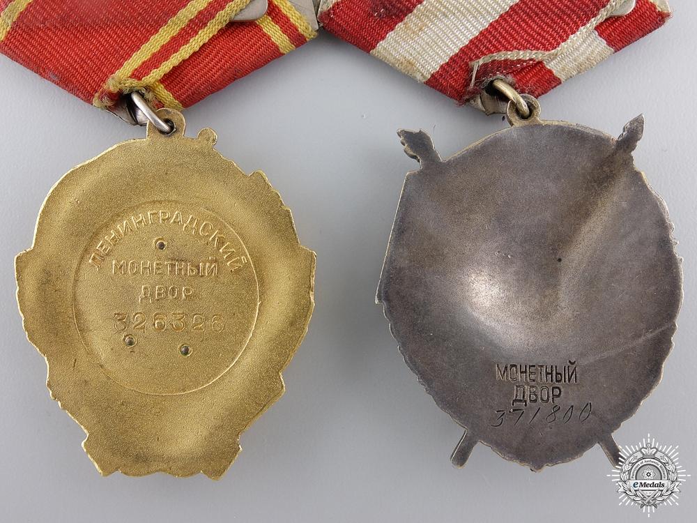 A Soviet Order of Lenin Bravery Pair to Mikhail Maiorov