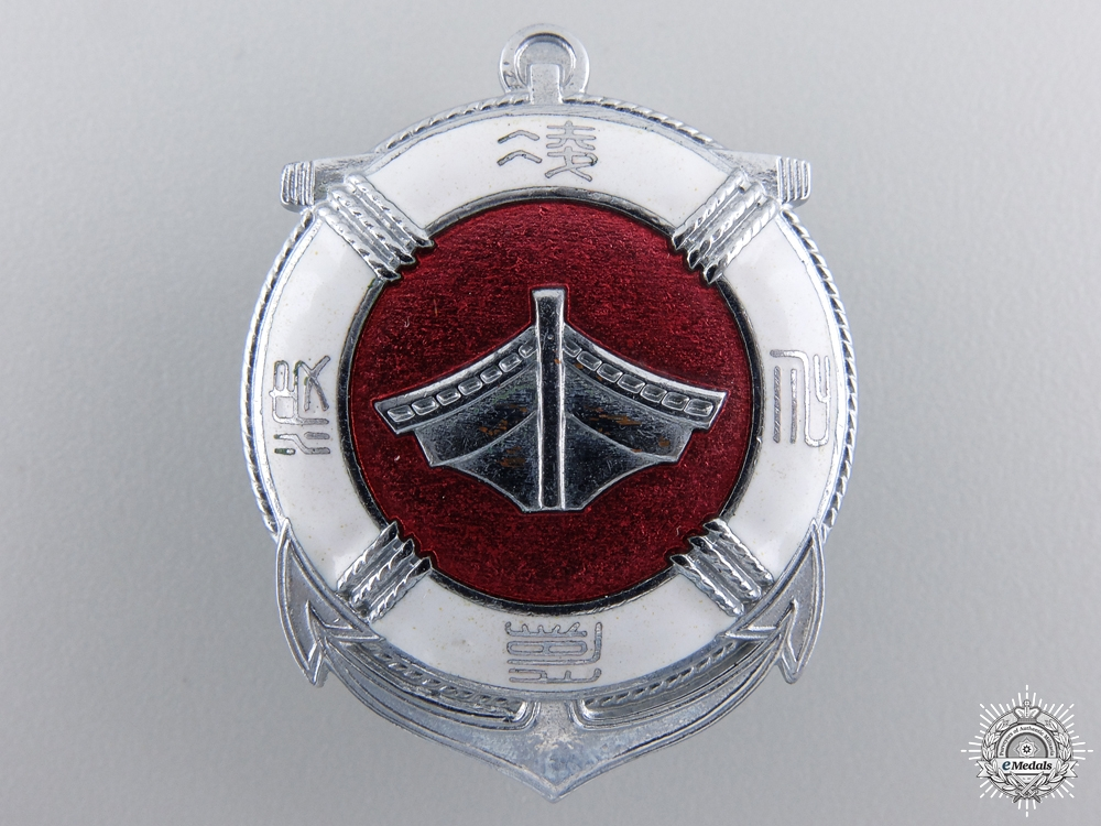 A Japanese Sea Disaster Rescue Society Badge