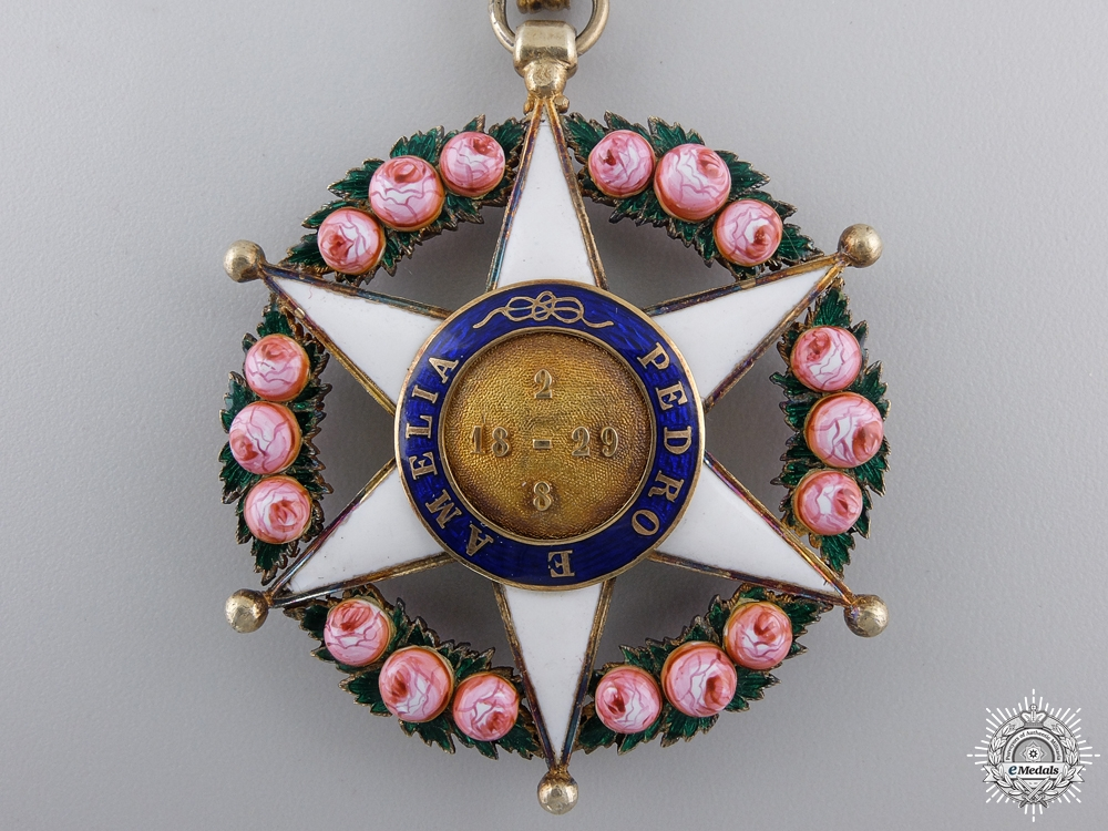 A Brazilian Order of the Rose; Neck Badge and Breast Star