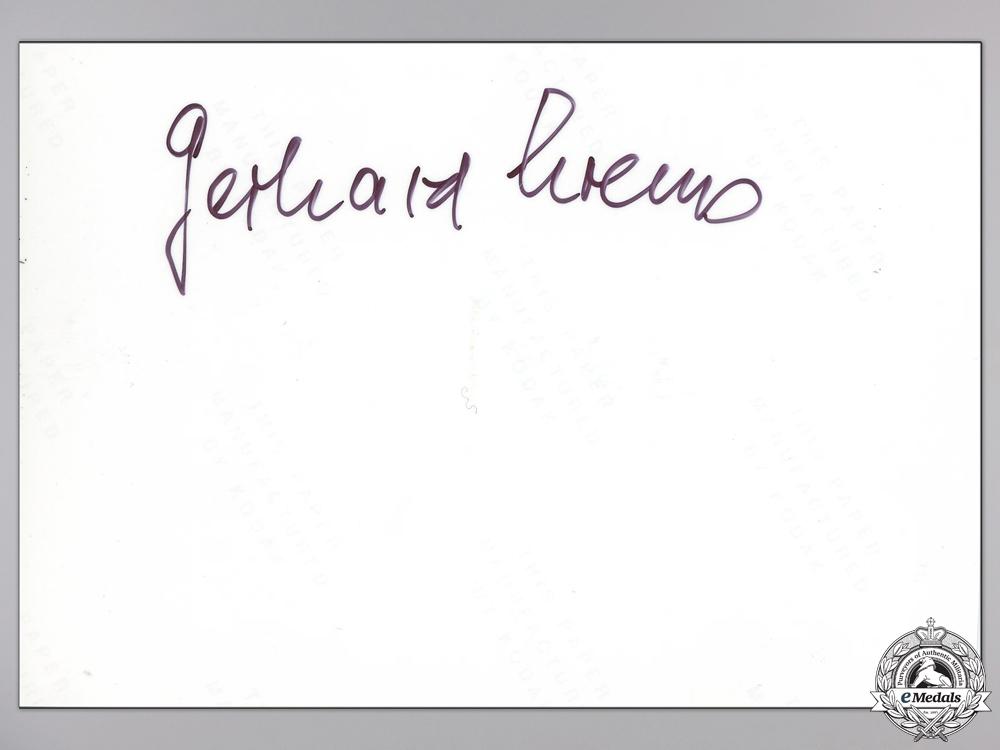 A Post War Signed Photograph of Knight's Cross Recipient; Krems