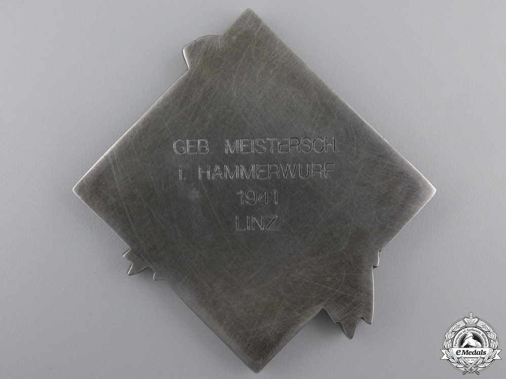 A 1941 HJ Sports Award for Hammer Throwing