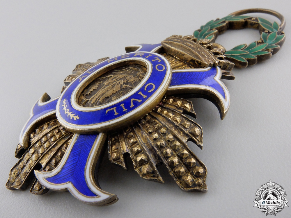 A Spanish Order of Civil Merit; Grand Cross Badge
