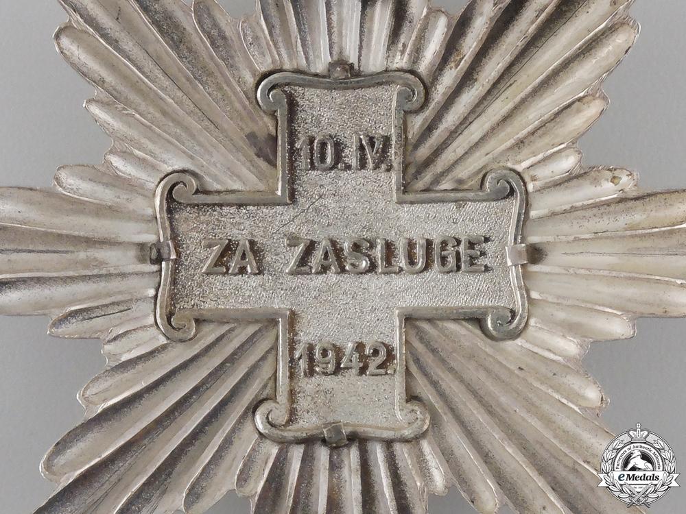 A Rare & Early Croatian Order of Merit; Christians Grand Cross