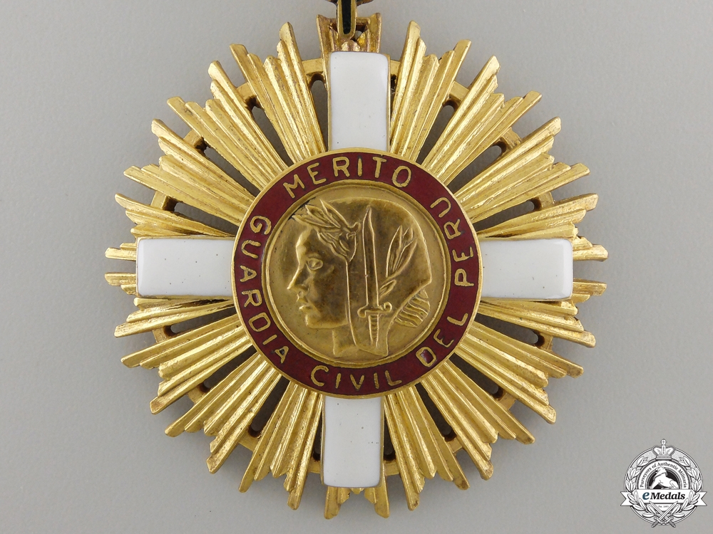 Peru, Republic. A Civil Guard Order of Merit, II Class Grand Officer, c.1950