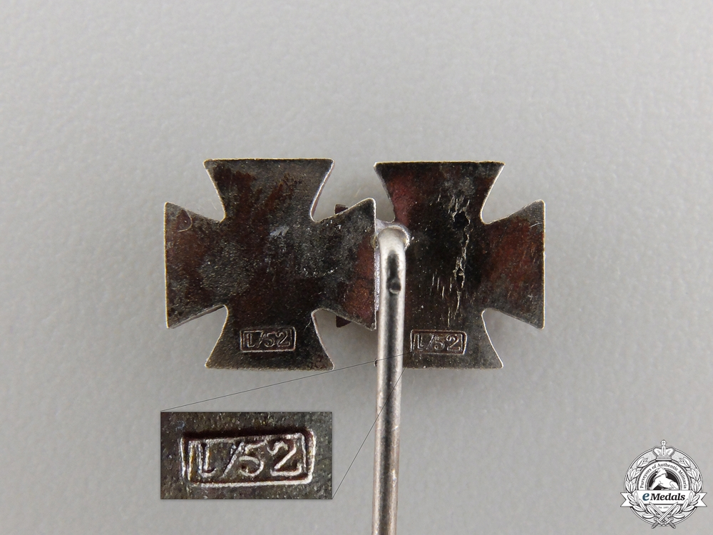 Three Miniature Iron Crosses 1939 by Zimmermann