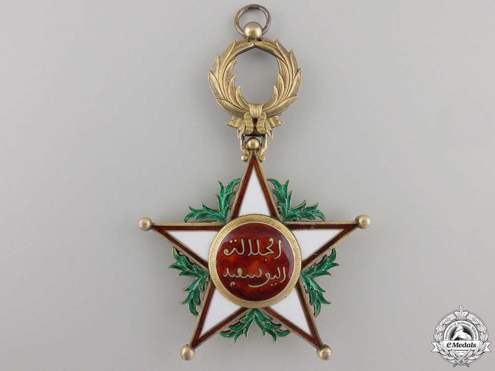 A Moroccan Order of Ouissam Alaouite; Grand Cross Set
