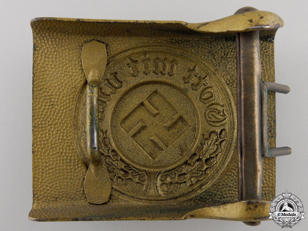 A German Water Protection Police NCO's Belt with Buckle; 1936 Pattern