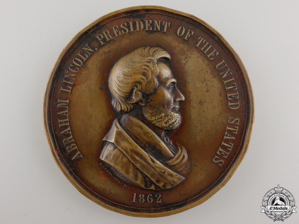 An American 1862 Abraham Lincoln Indian Peace Medal
