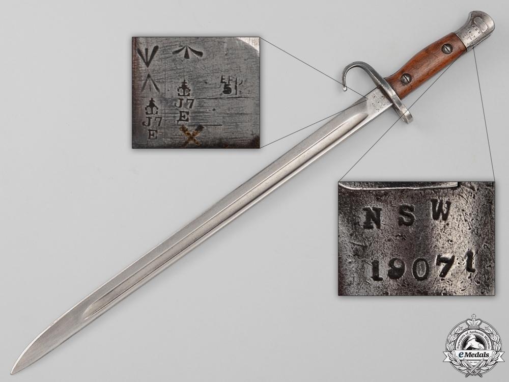 A First War Rare Australian Quillon Bayonet
