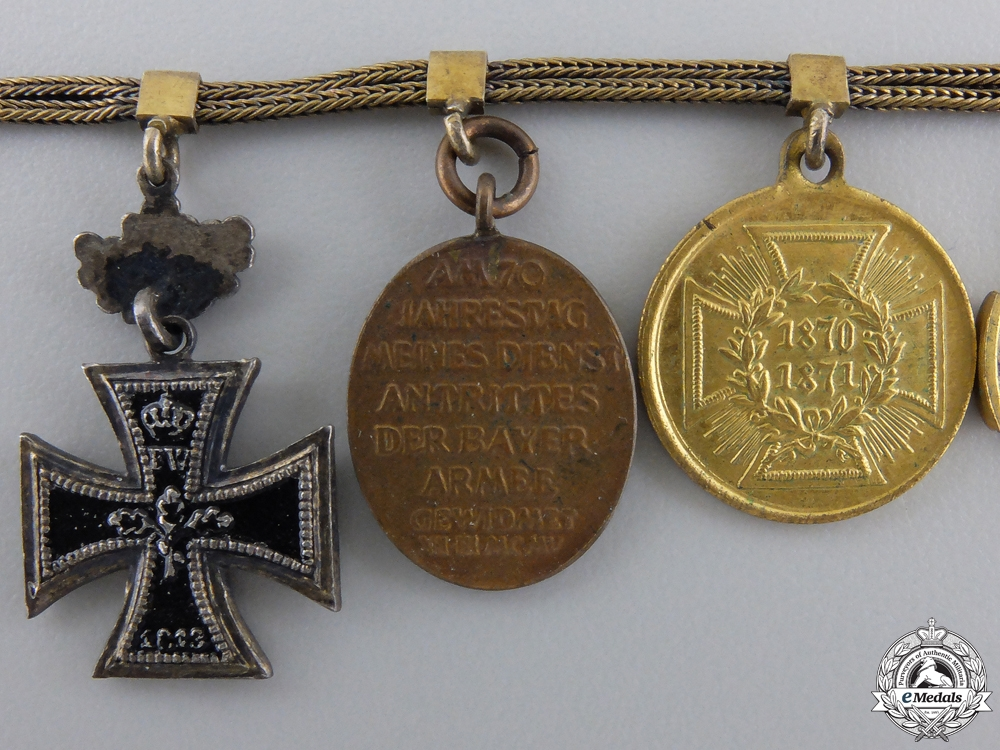 A Fine Franco-Prussian War Miniature Chain