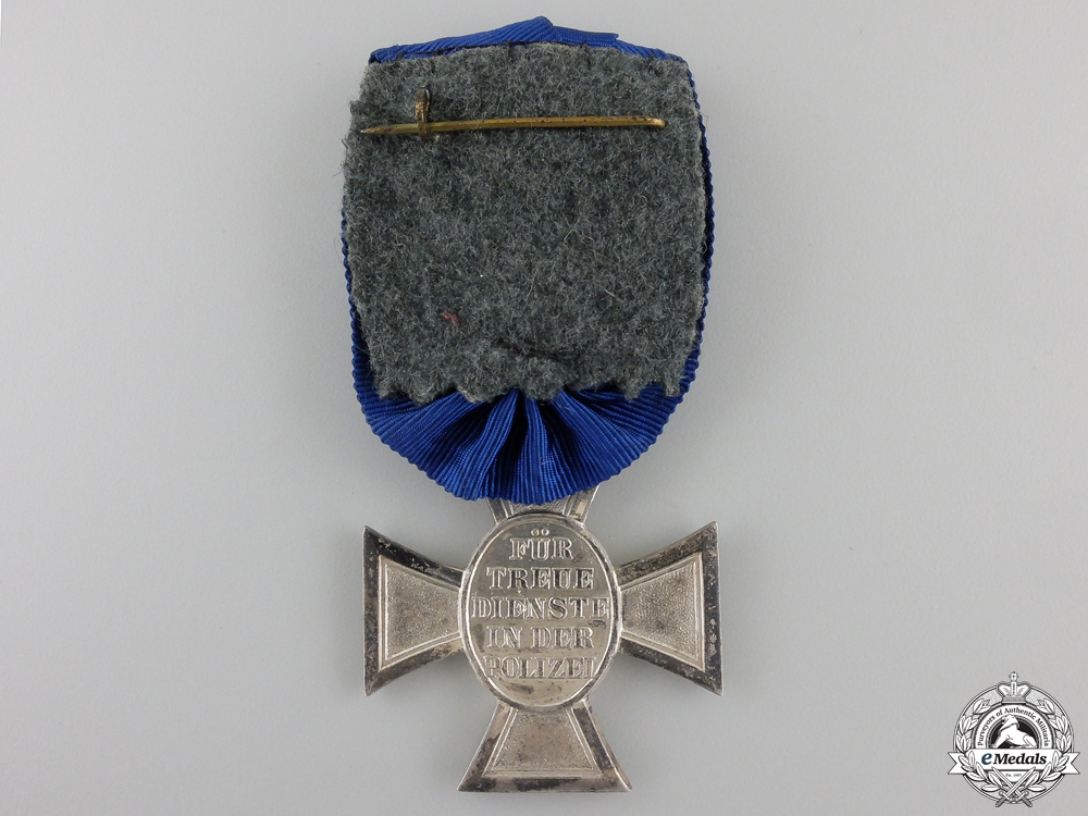 A Police Long Service Cross; Second Class