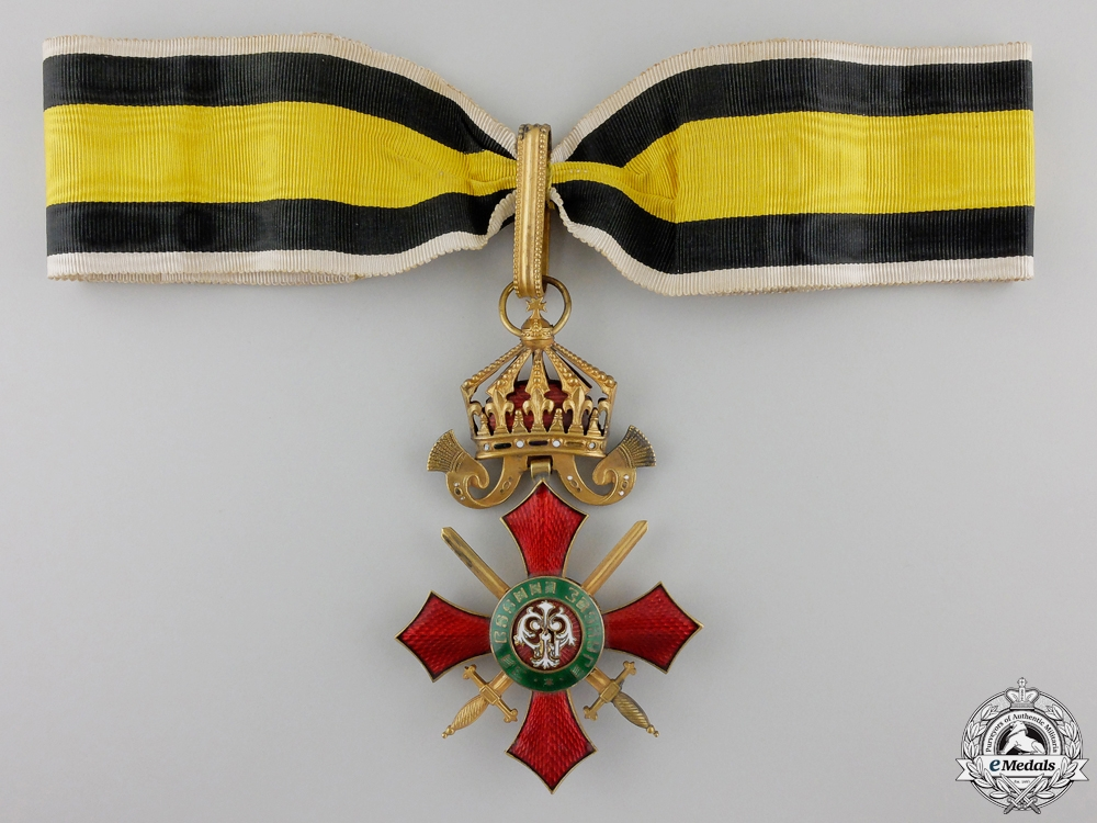 A Bulgarian Order of Military Merit; Commander's Cross with Case