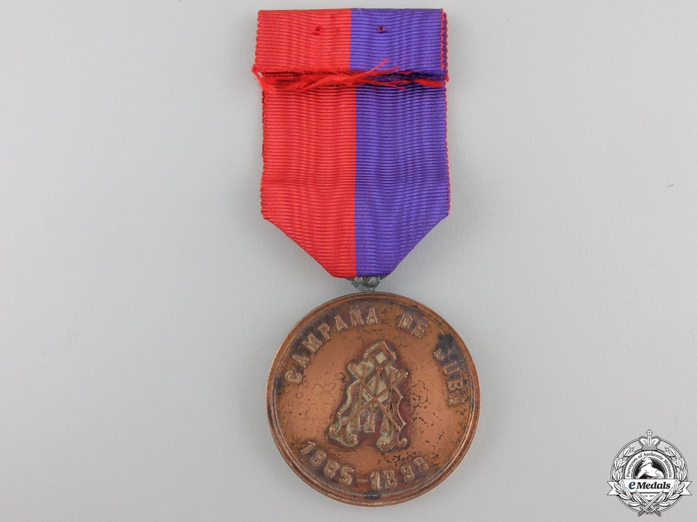 A Cuban Volunteers Medal 1895-1898