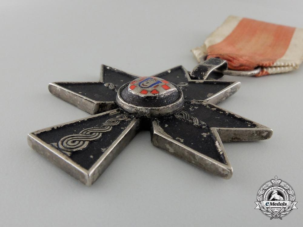 A Croatian Order of Iron Trefoil; Third Class