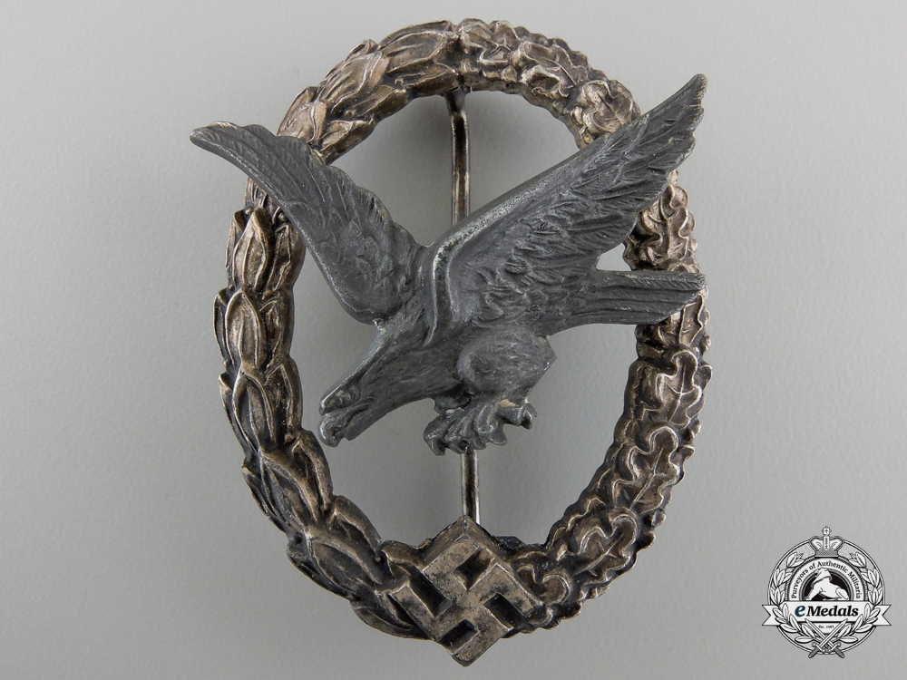 A Luftwaffe Air Gunner Badge by W. Deumer with Case