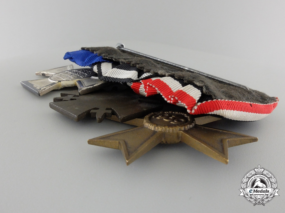 A Second War Period German Police Service Medal Bar