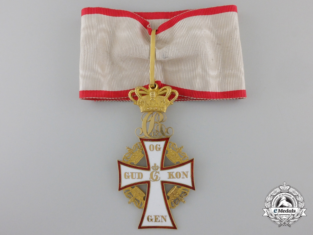 Denmark, Kingdom. An Order of Dannebrog in Gold, 2nd Class Commander, c.1890