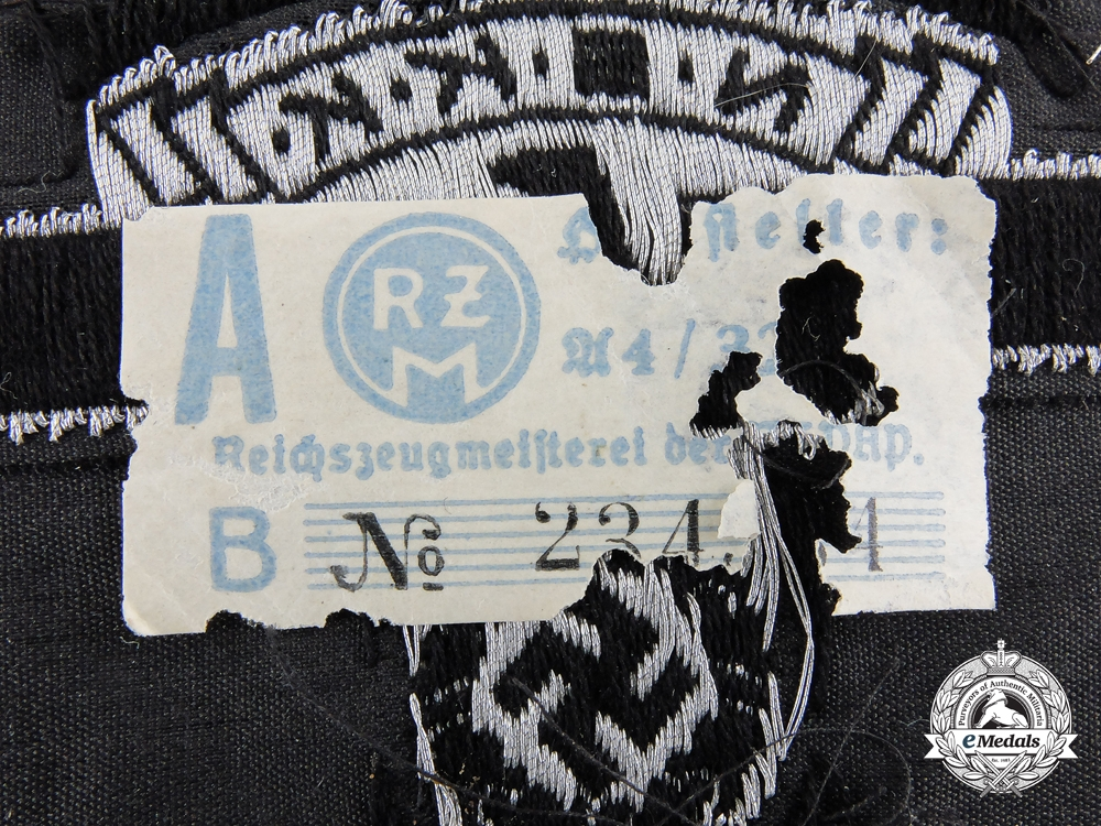 An NSKK Other Ranks Sleeve Eagle; RZM Tagged
