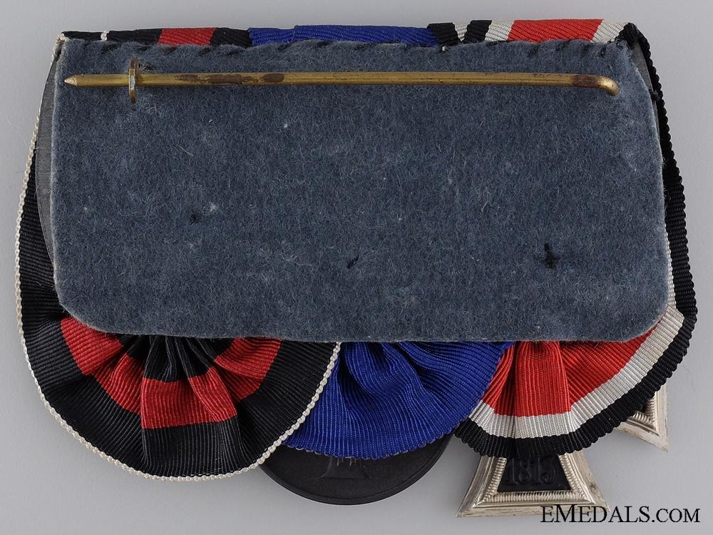 A Second War SS Long Service & Campaign Medal Bar