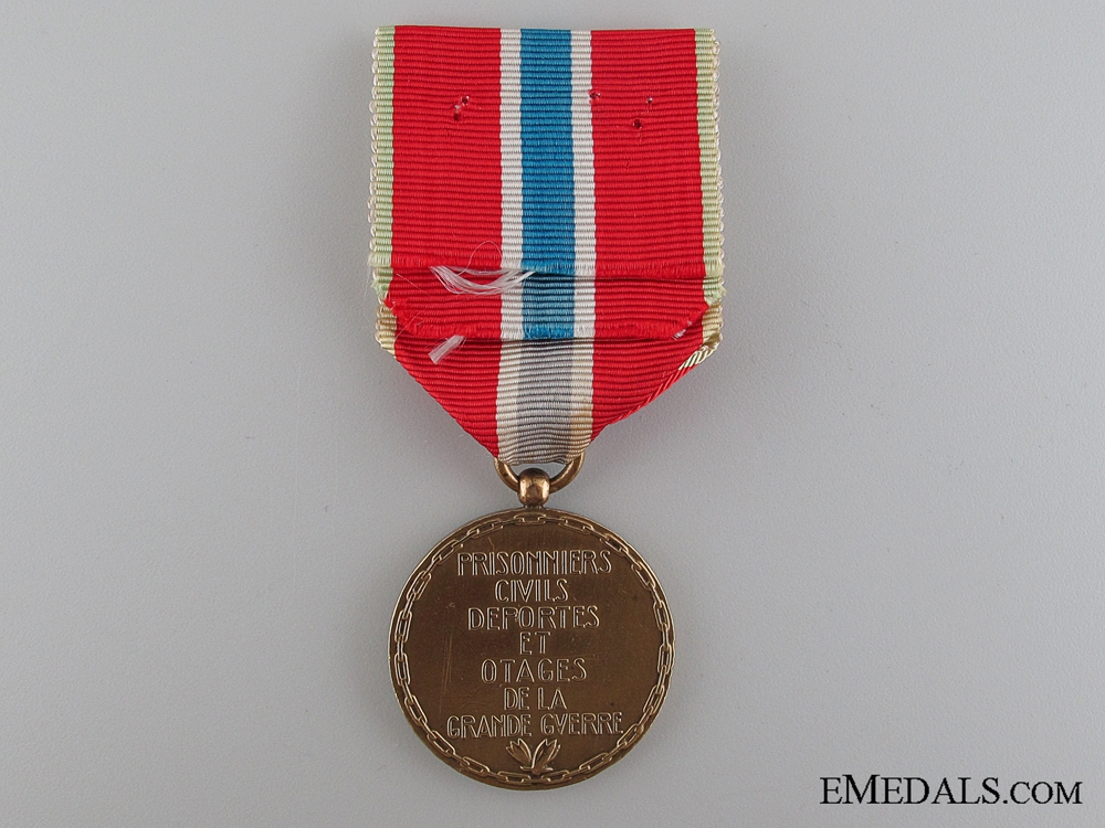 French Medal for Civilian Prisoners, Deportees and Hostages of the Great War, 1914-1918