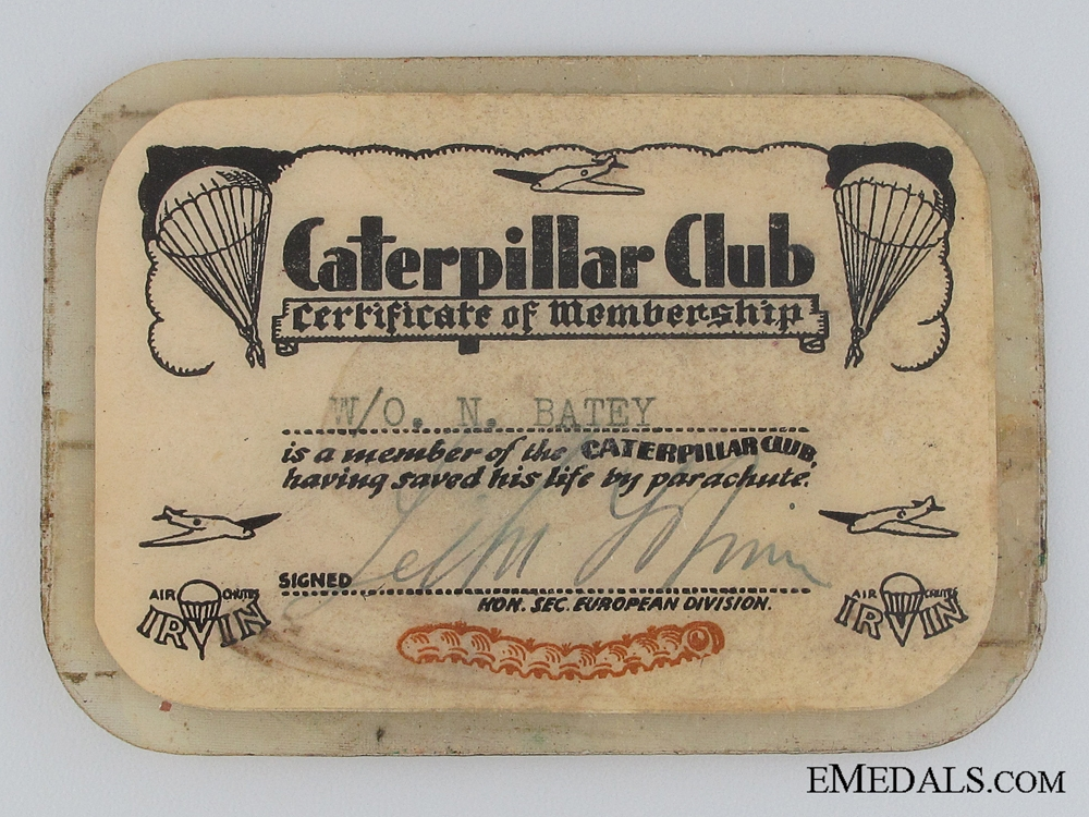 WWII Caterpillar Club Member Group RAF