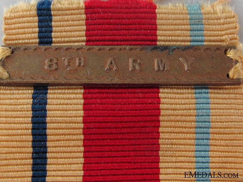 An Africa Campaign Star with 8th Army Clasp