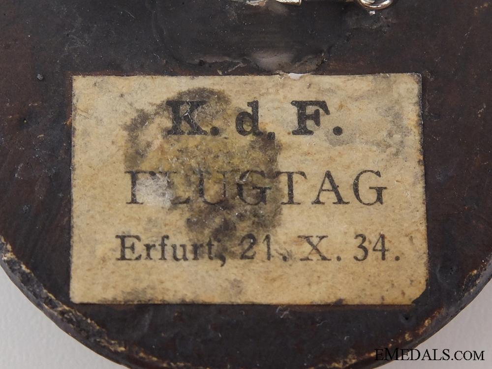 1934 Kraft durch Freude Flight Day Badge