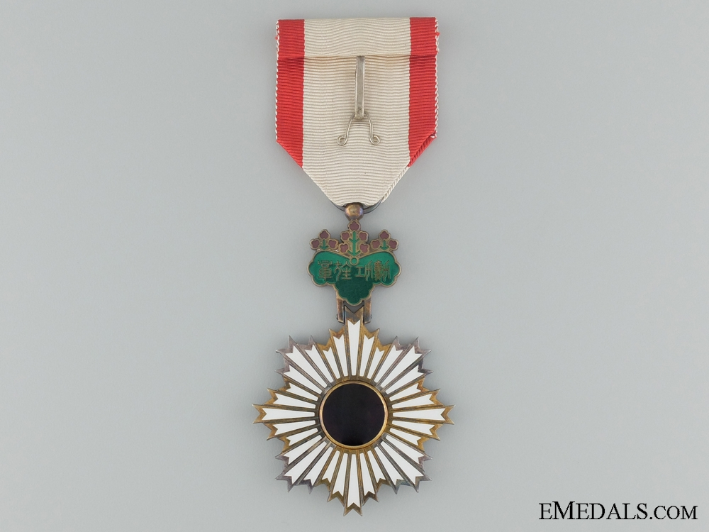 The Order of the Rise Sun with Paper Sleeve; Sixth Class