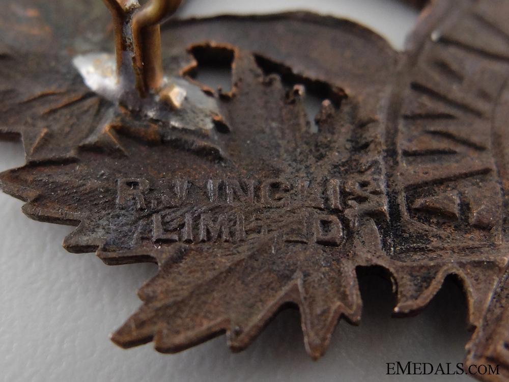 "WWI 77th Infantry Battalion ""Ottawa Battalion"" Cap Badge"