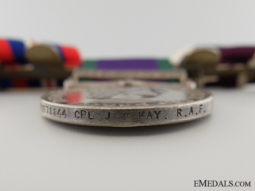 A Royal Air Force Long Service Medal Grouping to Cpl. McKay