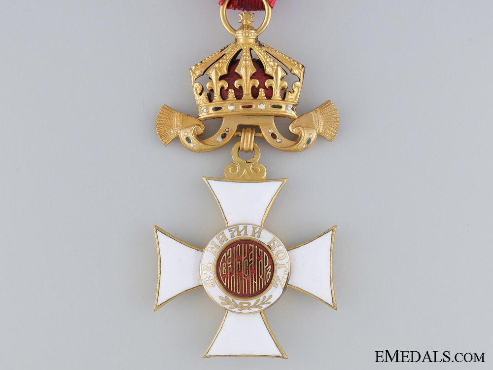 Order of St. Alexander; Fourth Class Cross; Cased