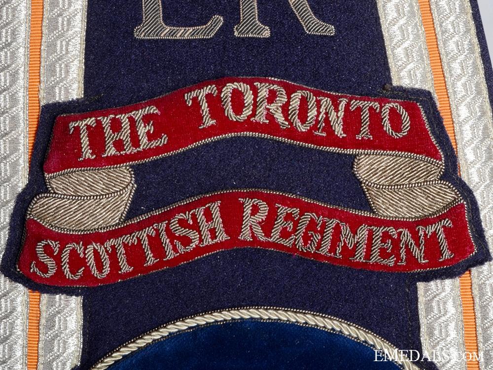 The ERII Toronto Scottish Regiment Drum Major's Sash