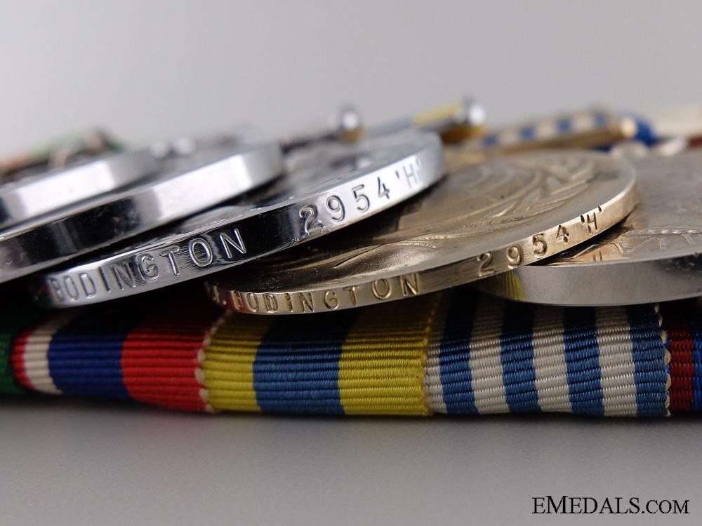 A Canadian Second War & Korea Naval Medal Bar of Nine Awards