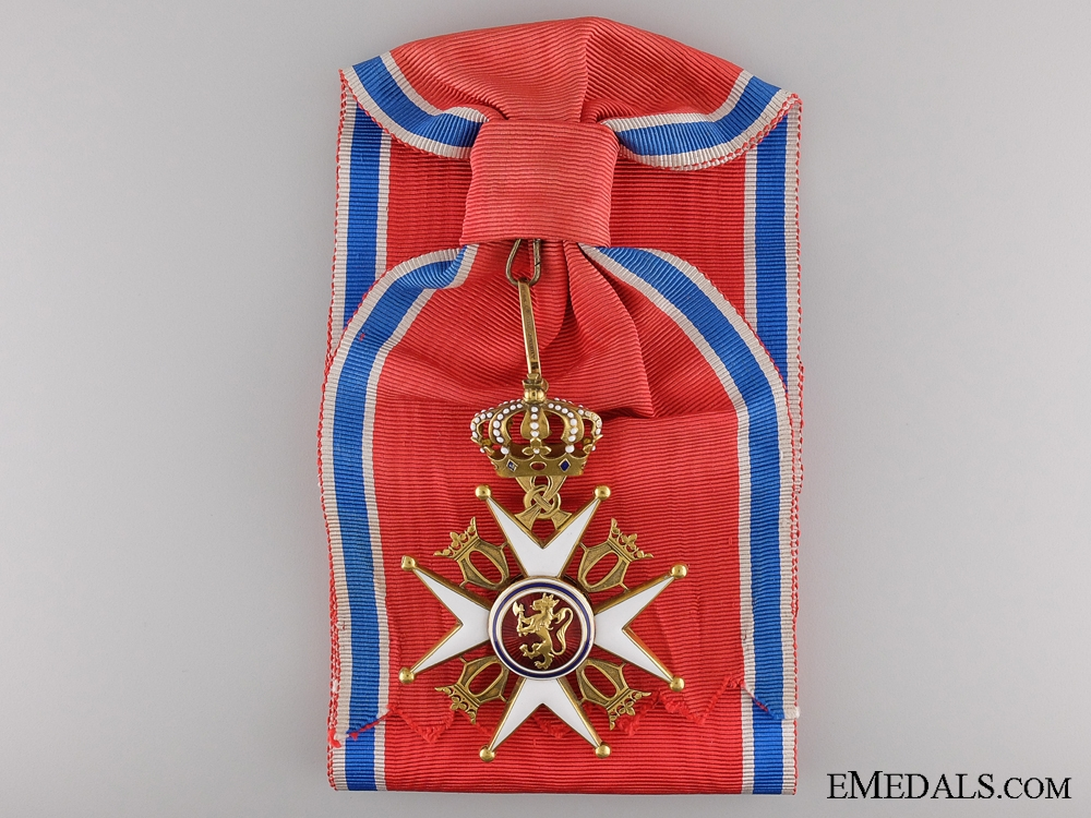 A Royal Norwegian Order of St. Olav Type II; Grand Cross Set of Insignia