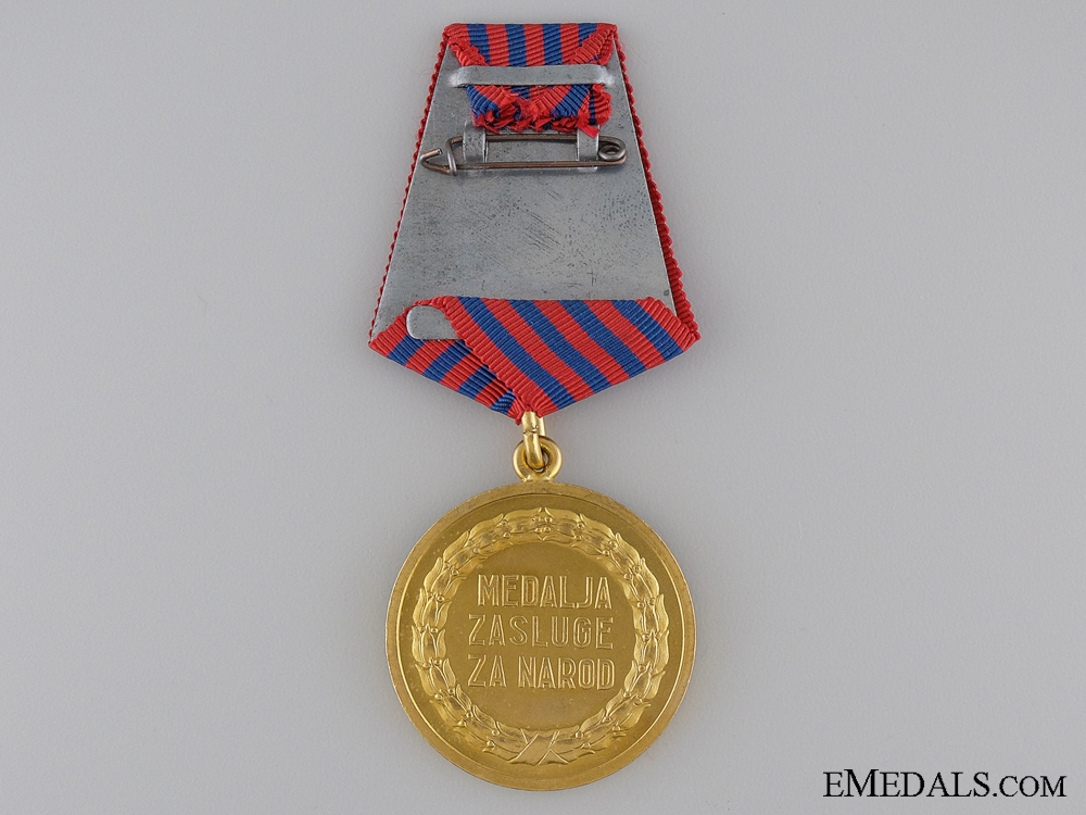 A 1952-1985 Yugoslavian Medal for Merit to the People in Packet