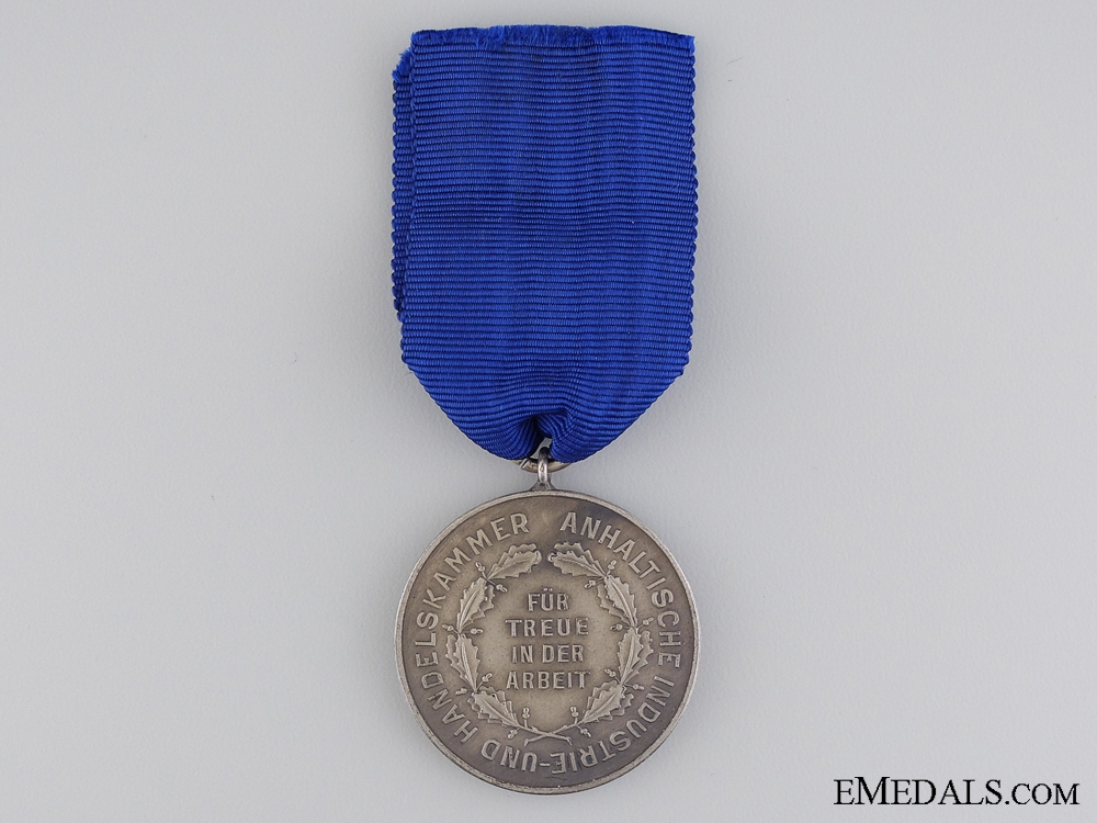 An Anhalt Industry Chamber of Commerce Faithful Work Service Medal
