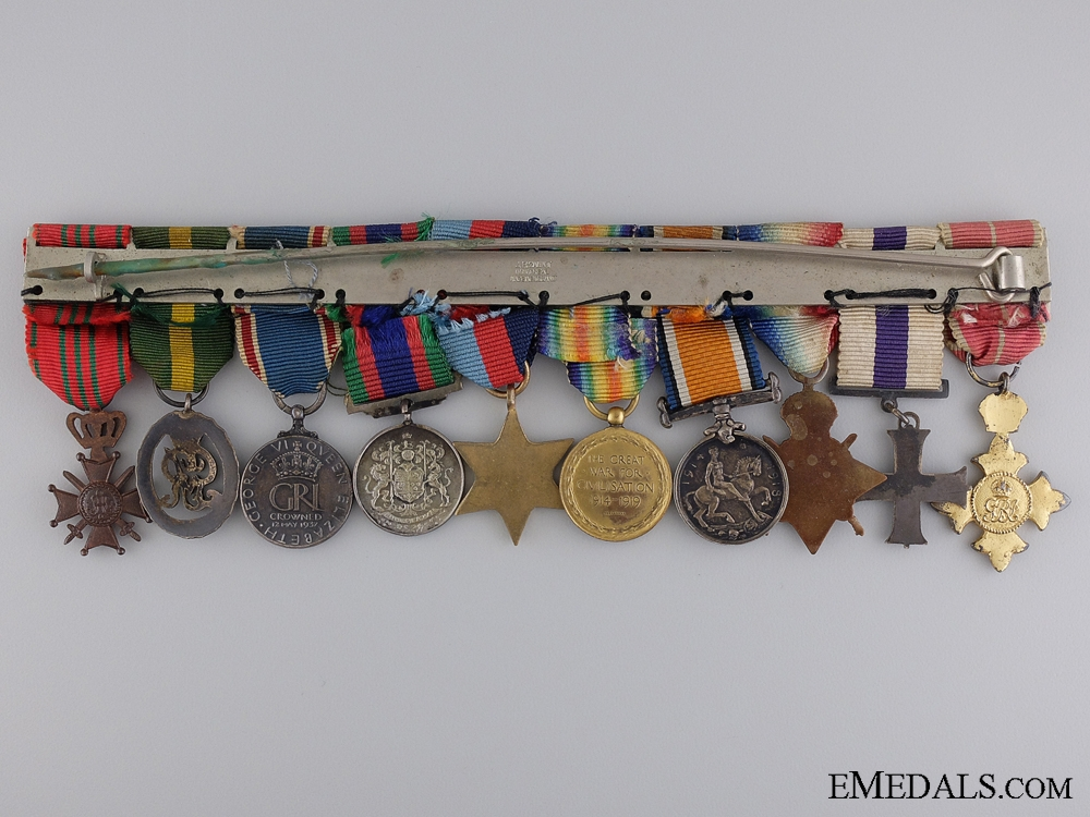 An Order of the British Empire & Military Cross Miniature Group