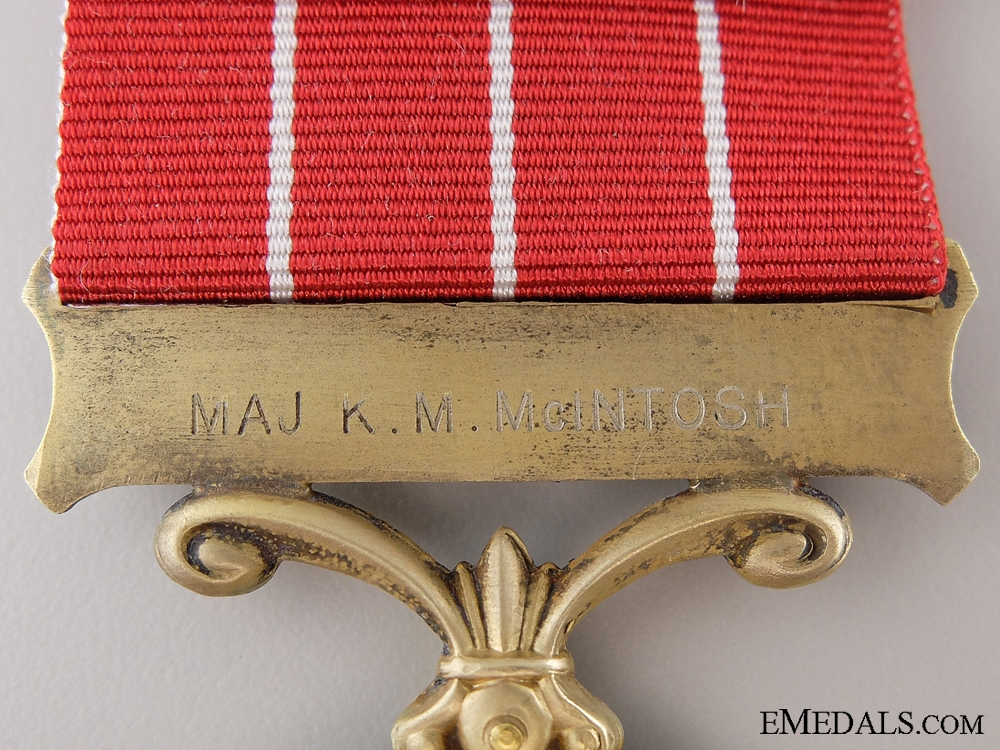 A Second War Canadian Group to Major K.M. McIntosh