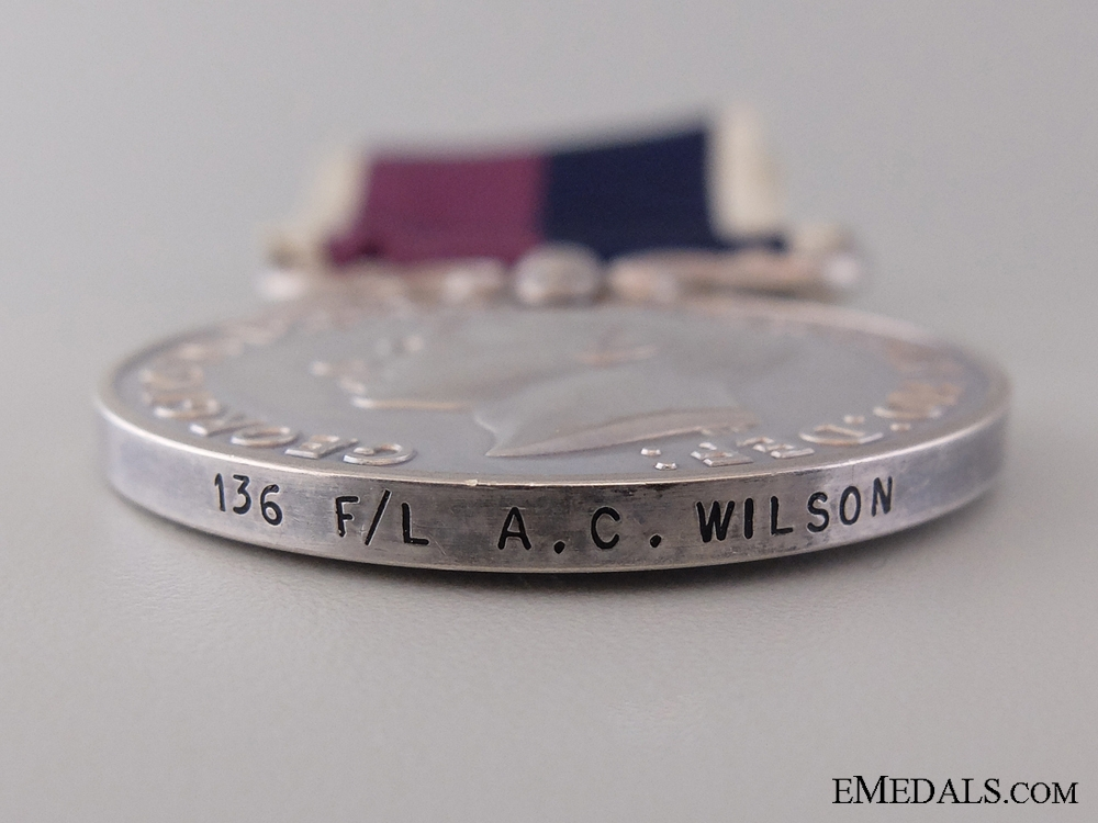 A Second War Long Service Medal Group to Lt. Wilson R.C.A.F.