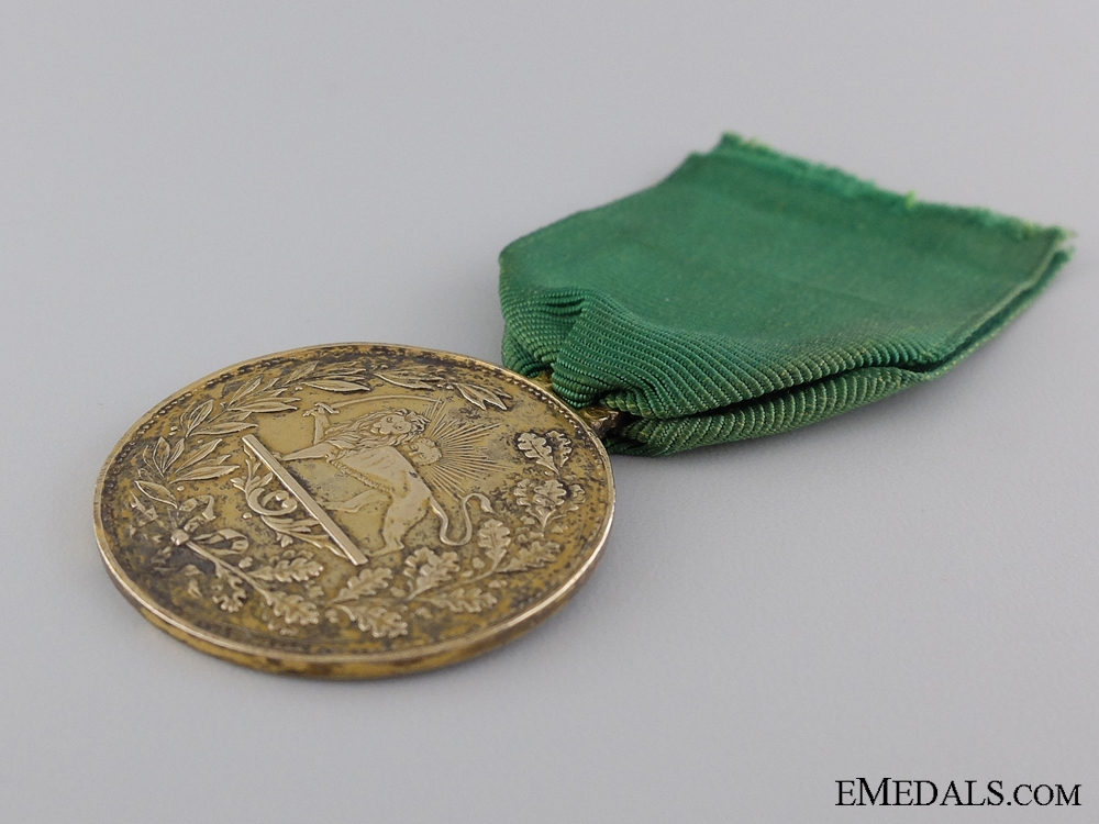 An Iranian Medal for Bravery (Military Valour); 1st Class Gold Grade 1899