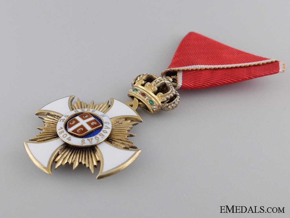 A Serbian Order of Karageorge; 4th Class by Scheid