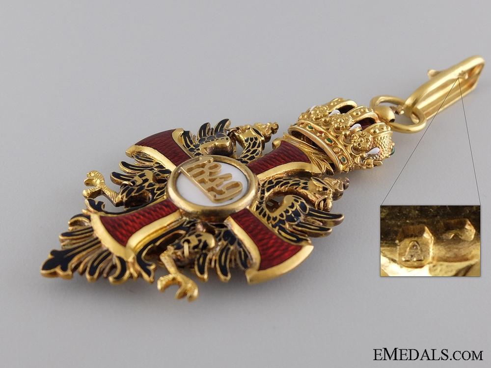 An Order of Franz Joseph in Gold; Commander's Neck Cross