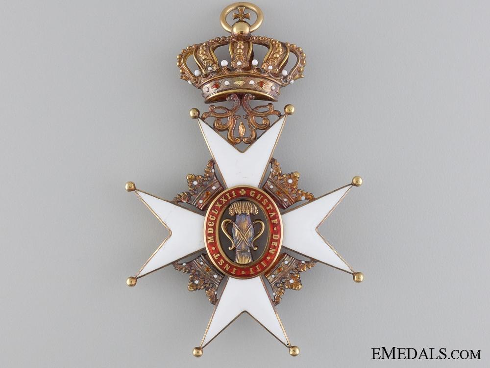 A Swedish Order of Vasa in Gold; Grand Cross