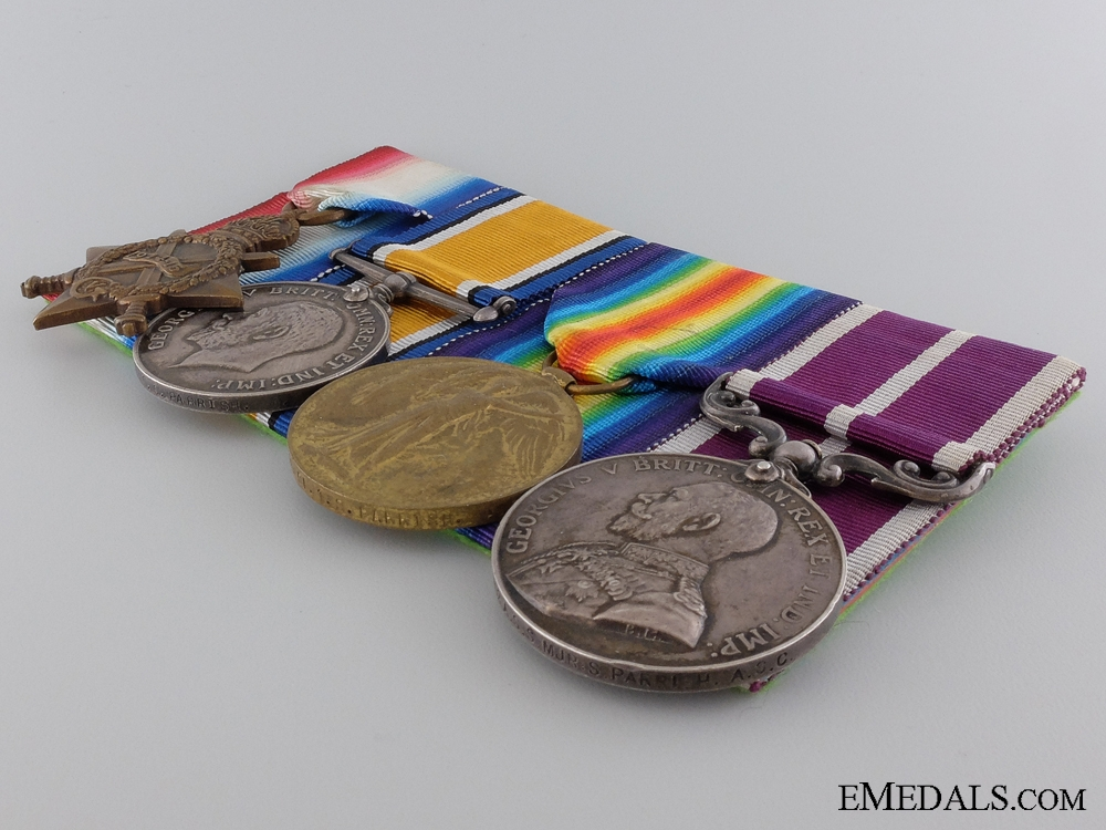 A Meritorious Service Medal Group to Section Major Parrish