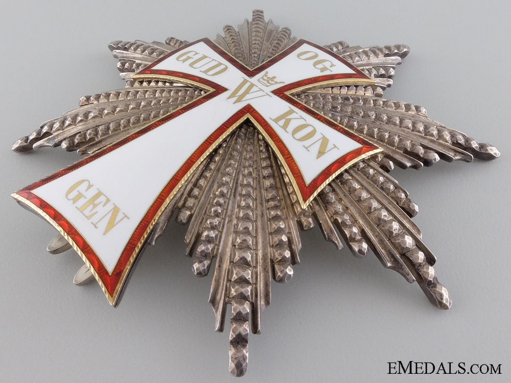 Denmark.  An 1892 Danish Order of Dannebrog, Grand Cross Star by A. Michelsen