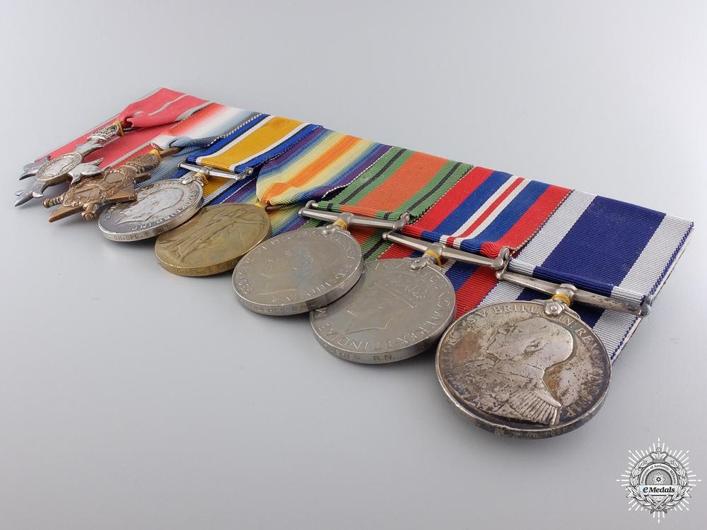 An MBE & Long Service Medal Bar to Lieutenant Arthur R. Hughes