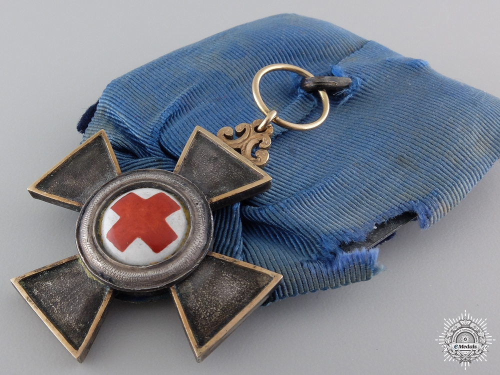 An 1870-71 Bavarian Nursing Cross with Gold Frame